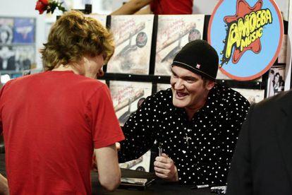Tarantino, na loja Amoeba, em Los Angeles, em 2009.