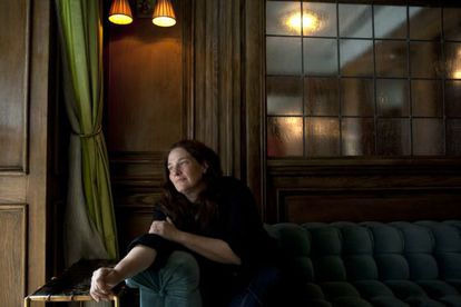 A escritora A. M. Homes, no hotel Marlton de Nova York.