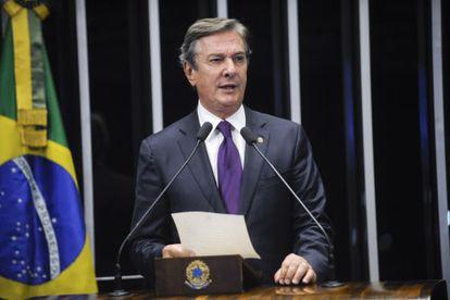 Collor discursa no Senado em 1 de junho.