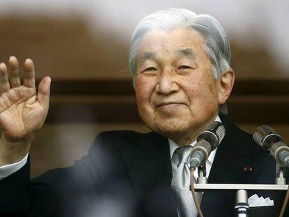Akihito na comemoração dos seus 82 anos, em dezembro, em Tóquio.