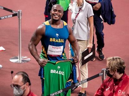 João Victor foi bronze no arremesso de peso.