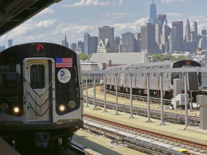 Metrô de Nova York, no Brooklyn