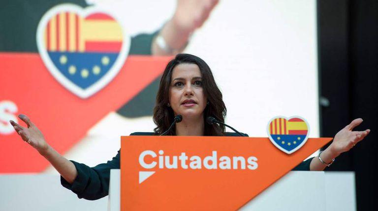 Ines Arrimadas, líder do Ciudadanos na Catalunha