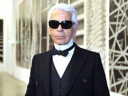 O estilista Karl Lagerfeld.