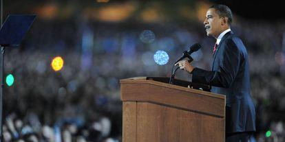 Foto de arquivo de novembro de 2008, durante a campanha eleitoral em Chicago.
