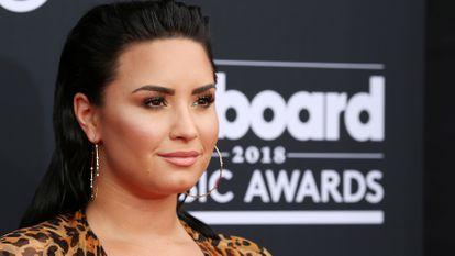 Demi Lovato, na cerimônia do Billboard realizada em Las Vegas em maio de 2018.