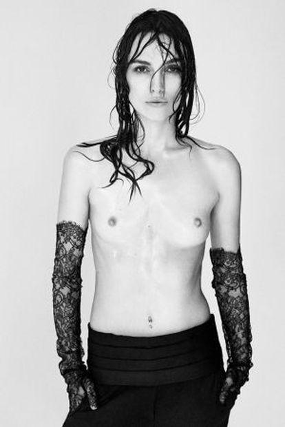 Fotografía de Keira Knightley, realizada por Patrick Demarchelier para a revista 'Interview'.