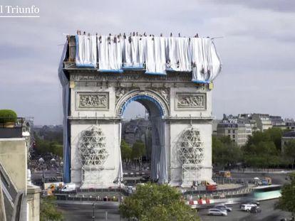 O Arco do Triunfo sonhado por Christo se torna realidade