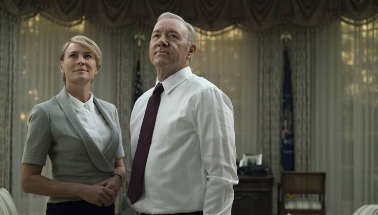 Robin Wright e Kevin Spacey na 5° temporada de 'House of Cards'.