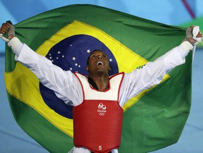 Maicon Siqueira, após conquistar o bronze neste sábado.