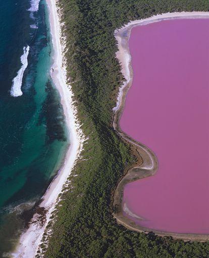 Lago Hillier, na Austrália