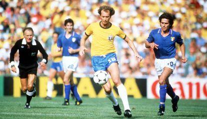 Falcão, na partida contra a Itália.