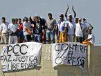 Presos del Pcc protestando, en 2008