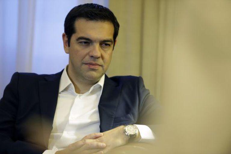 O premiê grego, Alexis Tsipras.