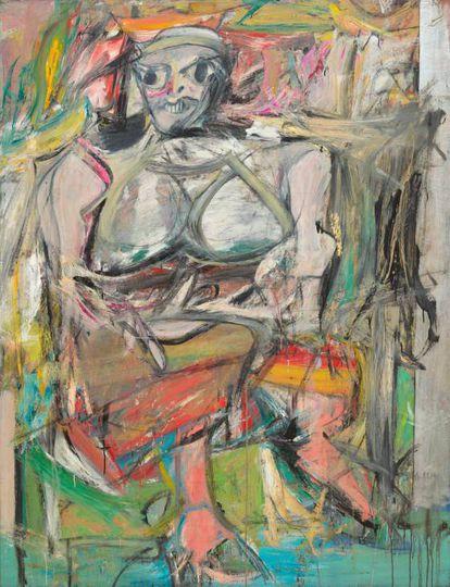 'Woman I', de Willem de Kooning, 1950–52, no Museu de Arte Moderna de Nova York.