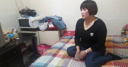 Wang Xiaohong, de 43 anos, em Pequim