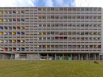 Edifício L'Unité d'Habitation, em Marselha, obra de Le Corbusier de 1952.