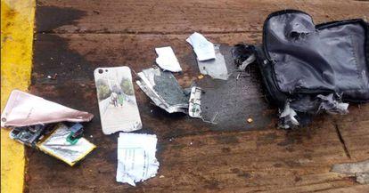 Restos do B-737 que caiu.