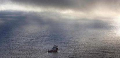 Navio australiano no Índico sul, durante a busca do voo MH370.