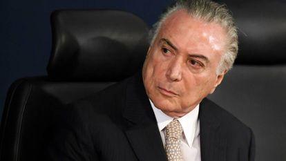 O presidente Michel Temer em Brasília no dia 18 de setembro