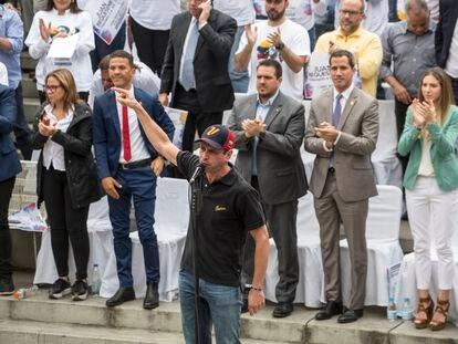 Henrique Capriles, durante um ato em Caracas, em agosto de 2019.