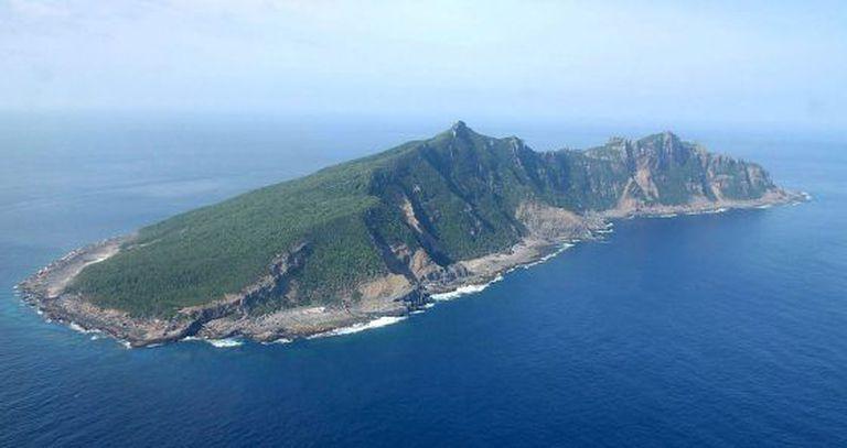 Uma das ilhas do mar da China Oriental disputadas pelo Japão e a China.