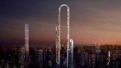 O primeiro arranha-céu curvo deverá ser o edifício mais alto do mundo.