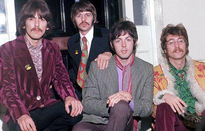 George Harrison, Ringo Starr, Paul McCartney e John Lennon: os Beatles em 1967.