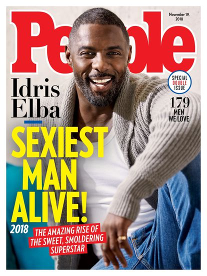 The overwhelming majority of white men voted the sexiest men in the world caused 'People' magazine to receive a lot of criticism.  In 2018 Idris Elba was the second black man to crown the list.