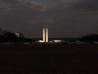 O Congresso Nacional, em Brasília.