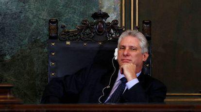 O vice-presidente Miguel Díaz-Canel em Havana