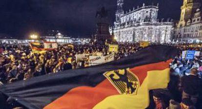 Manifestação da ultradireita na Alemanha, no final de 2014.