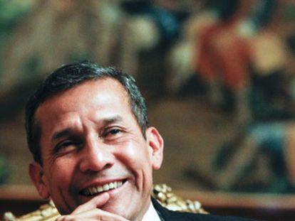 Ollanta Humala, presidente de Peru, no Palácio do Pardo de Madri.