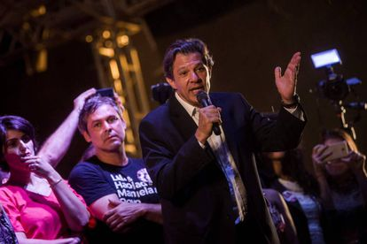 O candidato do PT à presidência, Fernando Haddad.