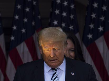 O ex-presidente Donald Trump em 7 de julho em seu clube de golfe, em Bedminster (Nova Jersey).