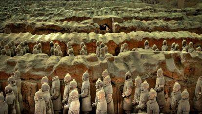 Os guerreiros de terracota de Xi'an, na província chinesa de Shanxi.