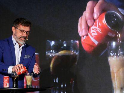 Rafael Urrialde, diretor de nutrição e saúde da Coca-Cola Iberia, nesta terça-feira.
