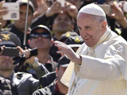O papa, no sábado, na Praça de São Pedro, no Vaticano.