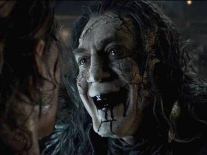 Javier Bardem, em uma imagem de 'Piratas dos Caribes: A vingança de Salazar'.