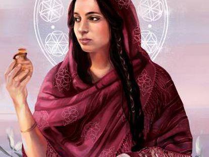 Ilustração de Danielle Storey para a capa do livro