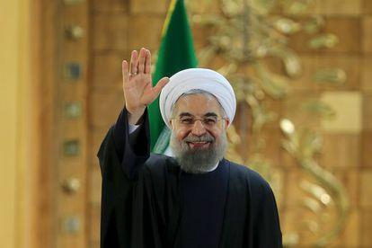O presidente iraniano, Hassan Rohani, durante uma coletiva de imprensa no sábado, dia 16, em Teerã.
