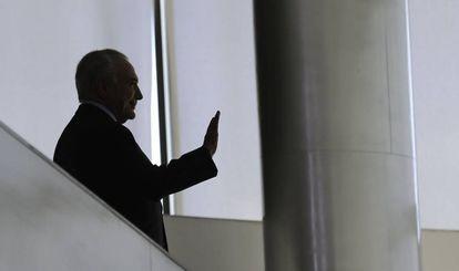 O ex-presidente Michel Temer em uma imagem de dezembro de 2018.