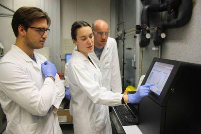 Pesquisadores do Centro de Regulação Genômica, uma das instituições que participaram do estudo, analisam os resultados de um sequenciador de DNA de última geração.