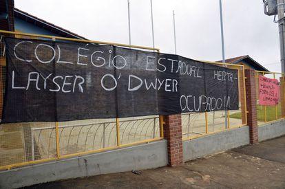 Uma das 25 escolas ocupadas em Goiás.