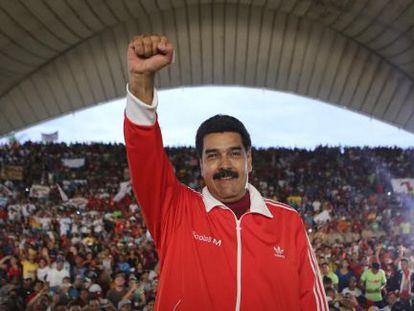 Nicolás Maduro no sábado, durante uma cerimônia em Caruachi.