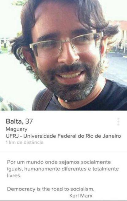 Página do capitão Botelho no aplicativo de paquera Tinder