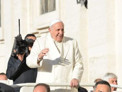 O Papa Francisco nesta quarta-feira, no Vaticano.