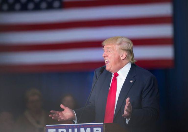 O candidato Donald Trump.