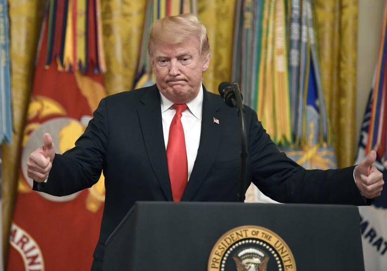 Donald Trump na Casa Branca.