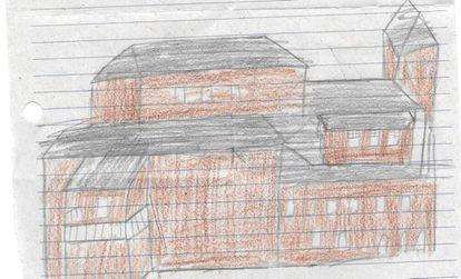 Uma das cartas enviadas pelas crianças da escola Áurea Pires da Gama para o Museu Nacional